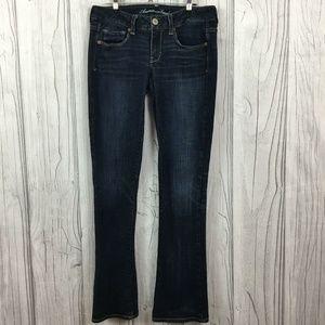 American Eagle Skinny Kick Jeans Womens Dark Blue
